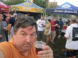 Rich enjoying a hme brew at Grovetoberfest!